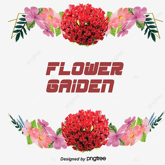 Beautiful Flowers Border Vector, Garden, Flowers, Frame PNG and ...