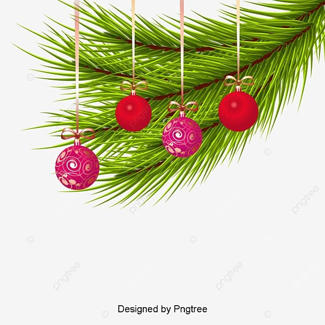 Colored Christmas Balls Red Ball PNG Image And Clipart