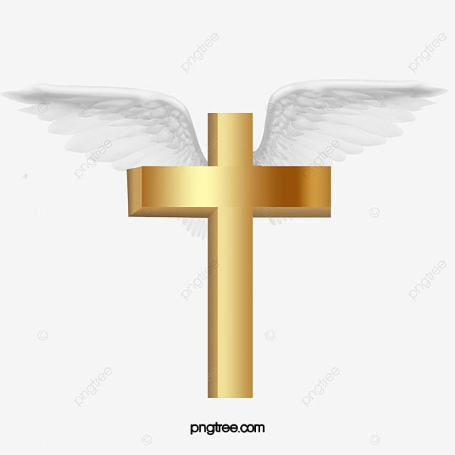 Cruz De Vuelo Cruz De Oro Ala Angel Imagen PNG Para