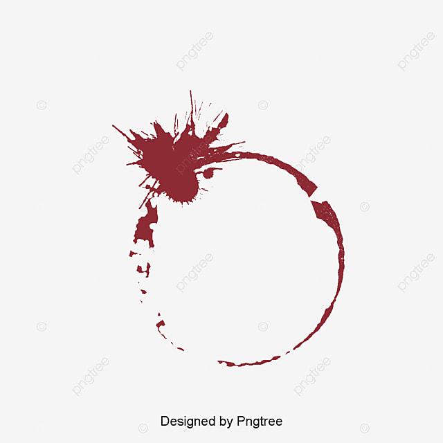 Vector efecto de mancha de vino tinto vector vino tinto - Manchas de vino ...