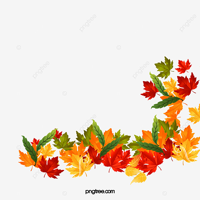vector autumn leaves background fall yellow leaves autumn png and
