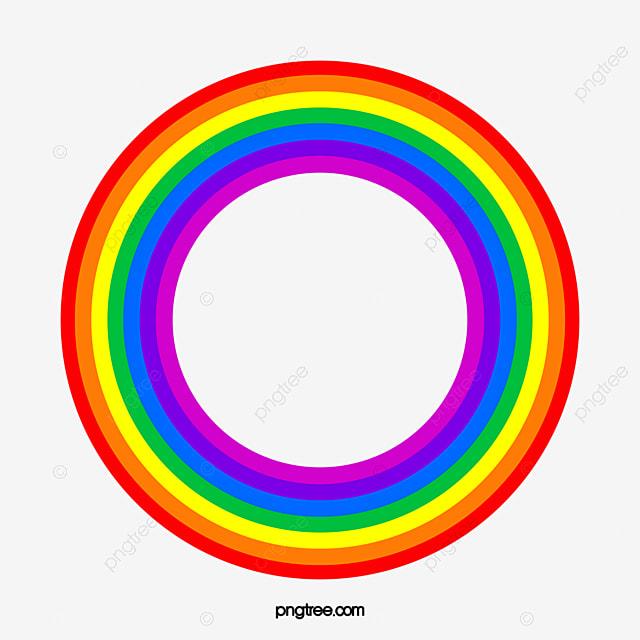 un arc circulaire rainbow circulaire couleur image png
