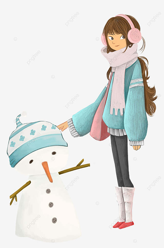 le bonhomme de neige avec un grand chapeau flocon de neige