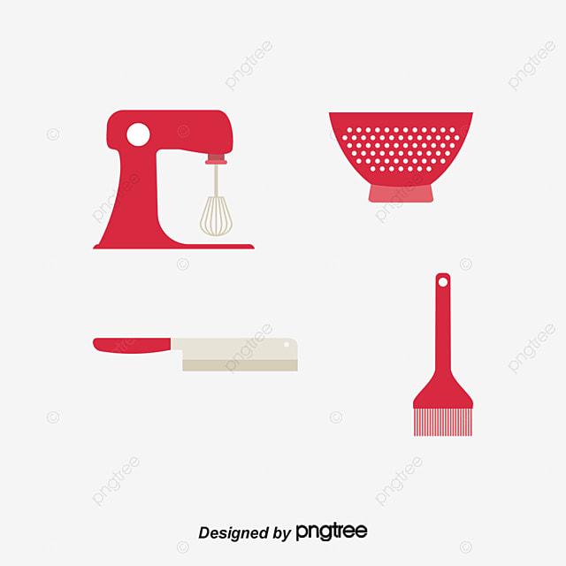 Dibujos animados de utensilios de cocina pintado a mano de for Herramientas cocina