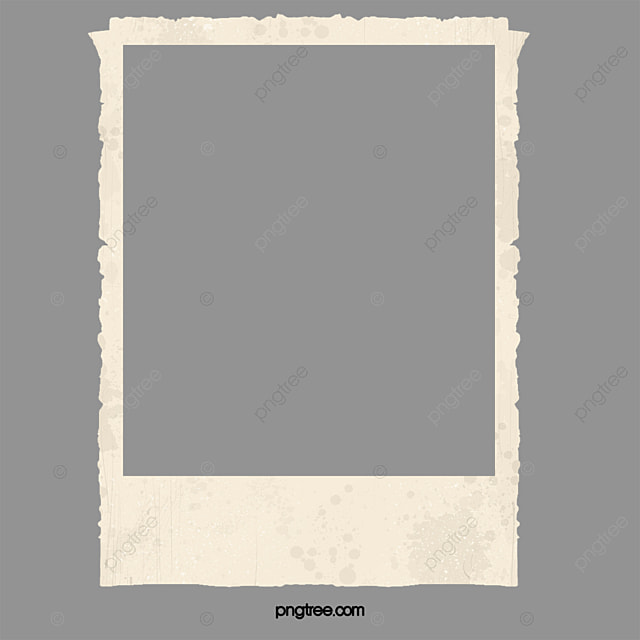 Polaroid Frame Material Brown Lovely Small Fresh Png Image And