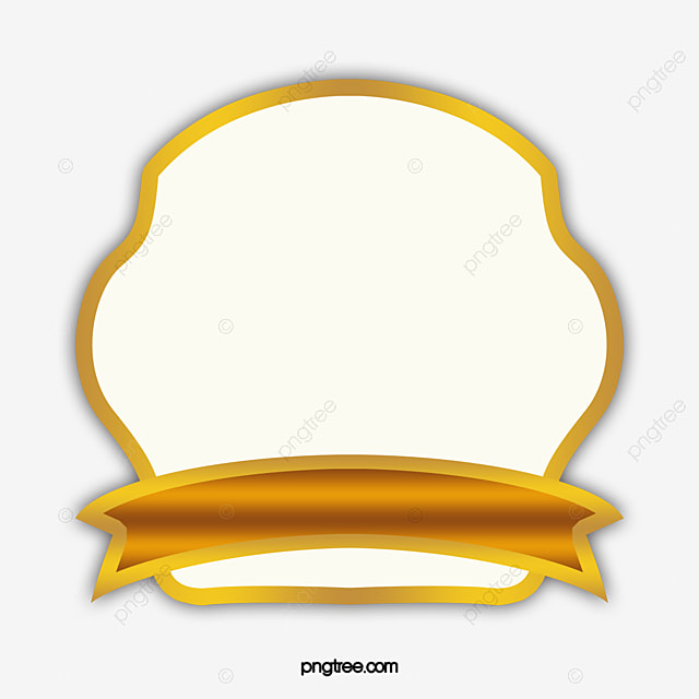 Shiny Gold Ribbon Label Vector Border Vector Bright Gold Shiny