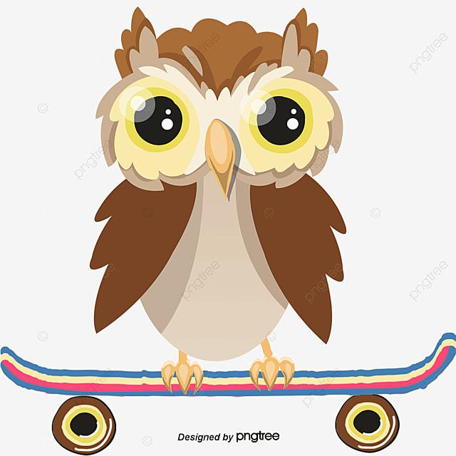 Vector Cartoon Ta Skate Desenho De Coruja Q Linda Coruja Skate Com