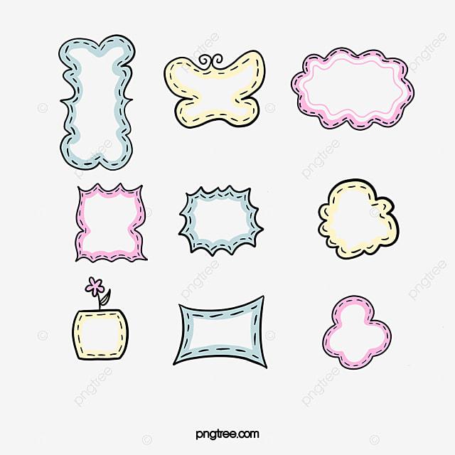 Vector Cartoon Diseño De Marco, Diseño De Marco De Dibujos Animados ...