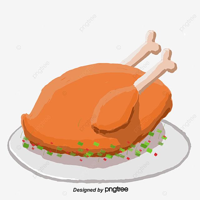 A Hand Drawn Cartoon Chicken Food Cartoon Vector Chicken Vector