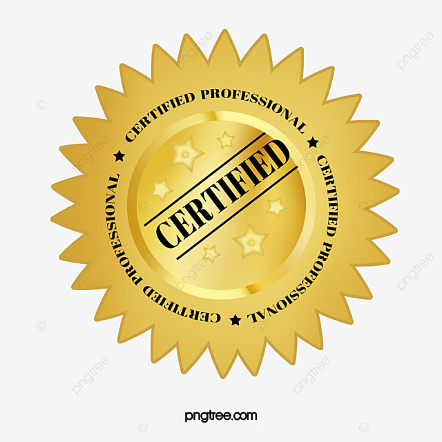 Vector Certified Professional Badge Authenticate Badge