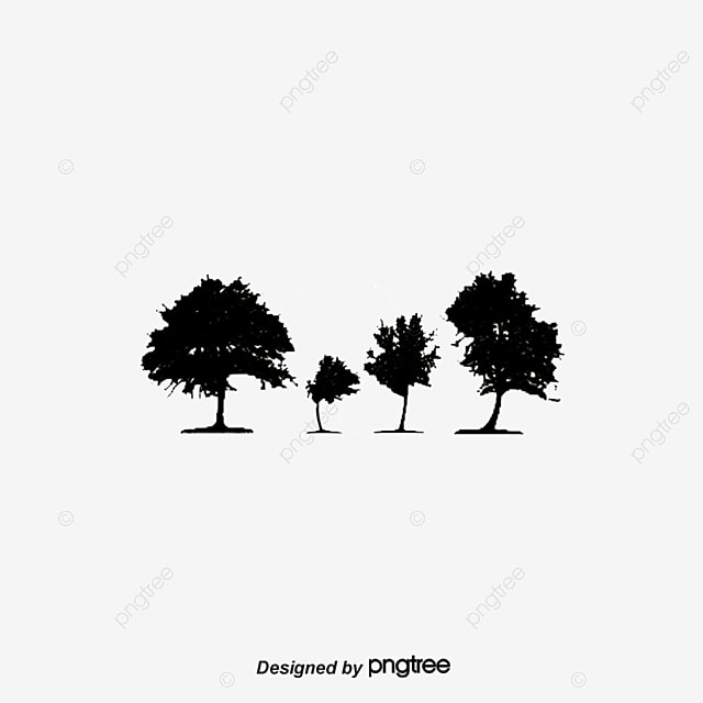 Black and white artwork silhouette of tree shape artwork tree silhouette of tree