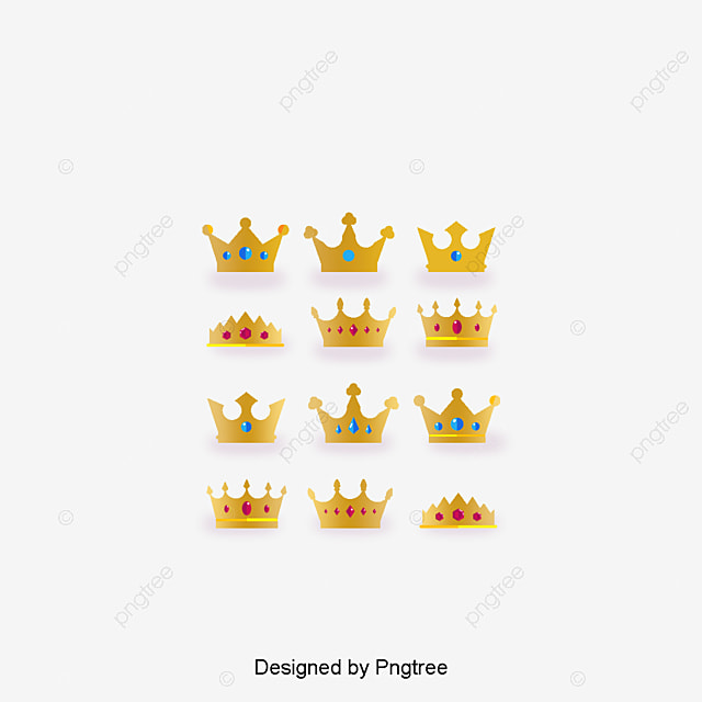 Noble And Beautiful Crown Of Gold Material Crown Clipart Gold Material Imperial Crown