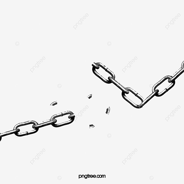 A Broken Chain Chain Clipart Chain Fracture Png