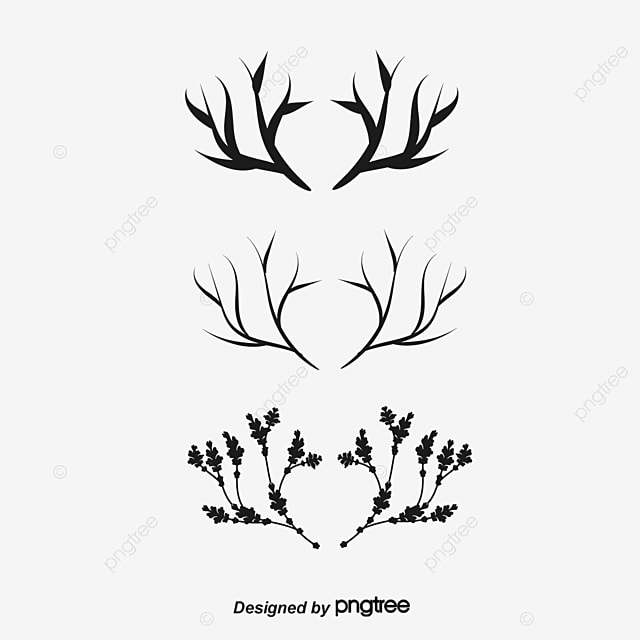 Tattoo Deer Eye Triangle Antlers PNG And PSD