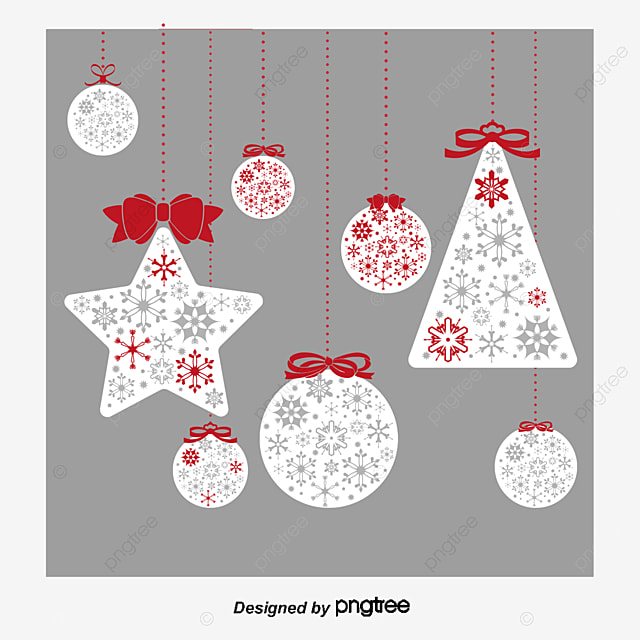 Vector Christmas Ornaments Christmas Pendant Decoration Png And