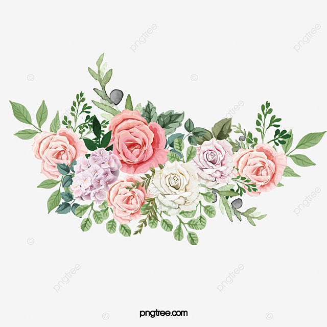 Aquarelle De Fleurs Vecteur Mariage Les Fleurs Image Png Pour Le