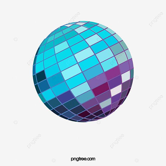 Azul bola de discoteca azul bola de discoteca disco - Bola de discoteca de colores ...