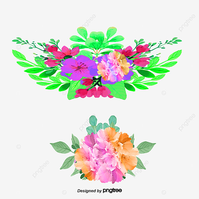 Vector Flowers Illustration Brush Free PNG And