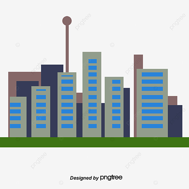 abstract city buildings cartoon elements house personalise png