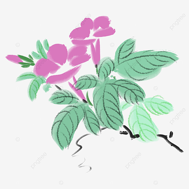 Pink flowers watercolor flowers chinese style ink flowers png pink flowers watercolor flowers chinese style ink flowers png image and clipart mightylinksfo