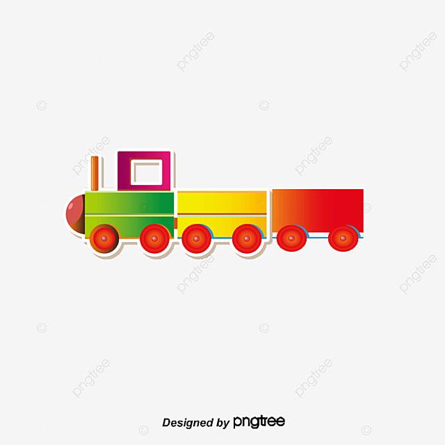 vector cartoon little toy train  cartoon clipart  train christmas toy train clipart Antique Train Clip Art