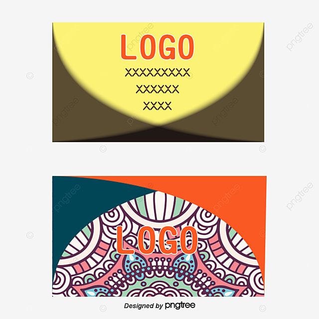 Orange Business Card Vector Design Background Pattern PNG And