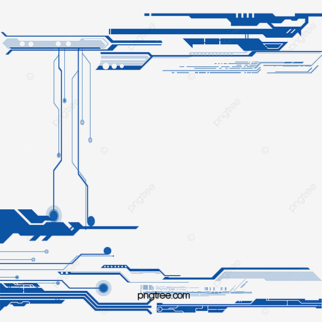 Blue Line Border, Frame, Vector, Science And Technology PNG and ...