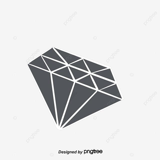 Blanco Y Negro Diamante Linea Vector Diamond Joyas Joyas PNG y ...
