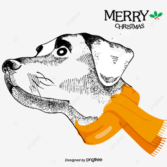 Cute Dog Christmas Dog Clipart Decoration Vector Png And Vector