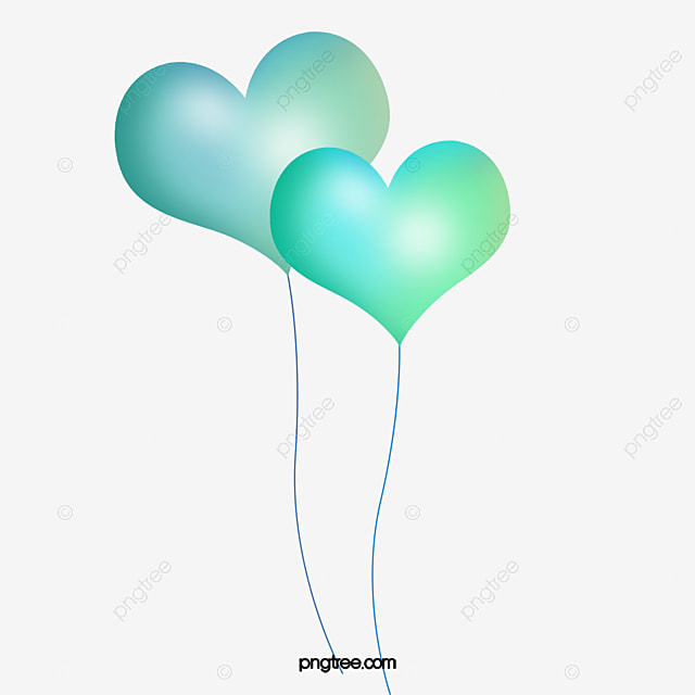 blue heart shaped balloons blue heart shaped balloon png image