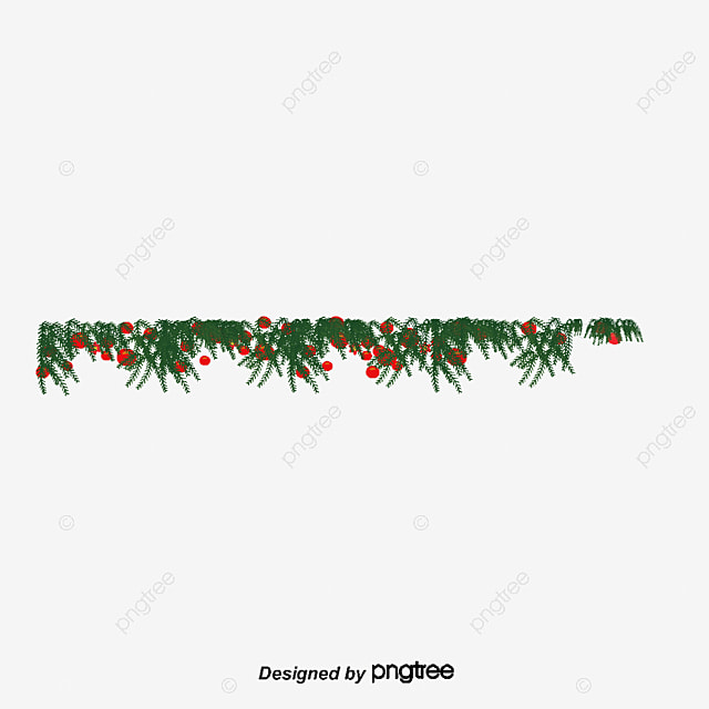 Christmas Tree Border Top Poster Creative PNG And PSD