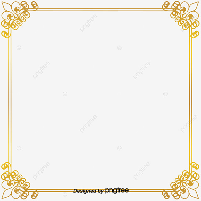 Gold Frame Frame Clipart Frame Pattern Png Image And