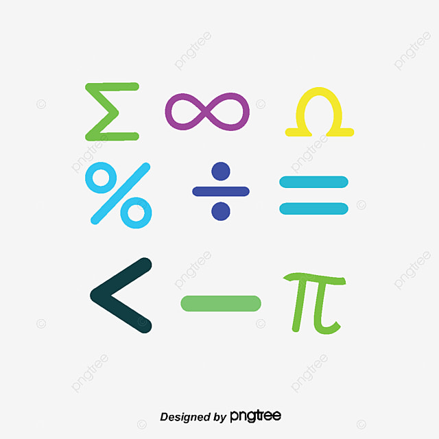 Vector Mathematical Symbols Mathematics Symbol Sleek Mathematical