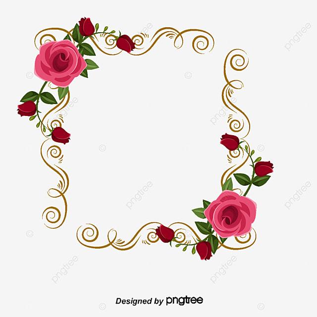 50eb3e46f9fe Rose Frame PNG Images