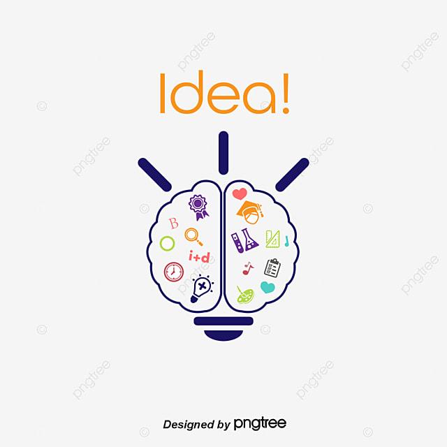 Vector Brain Light Bulb Brain Light Bulb Cartoon Brain Png And