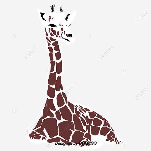 Vector Cute Cartoon Girafa A Versão Q Girafa Desenho De