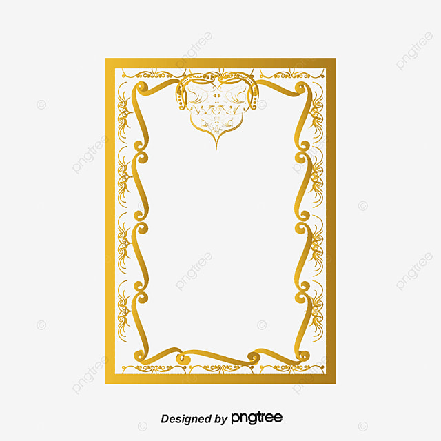 vintage gold frame heart shaped vintage vector png and