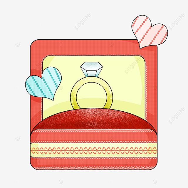 коробочка-сердечко с кольцами новые анимашки