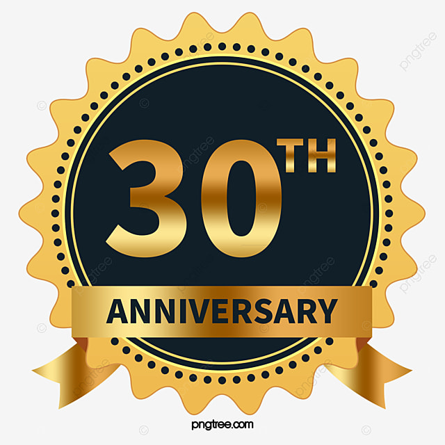 30th Anniversary Of Vector Hd Vector Gold Brand Png And Vector