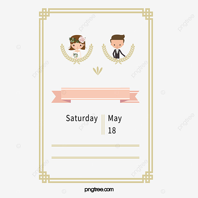 The Bride And Groom Wedding Invitation Vector Wedding Invitations