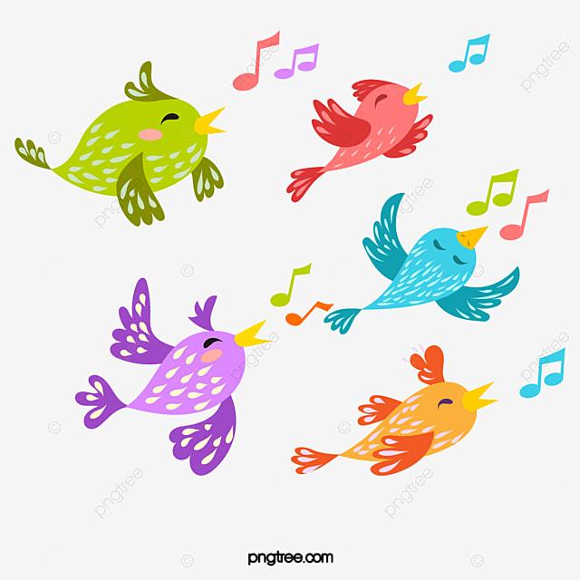 Vector de dibujos animados lindo p jaro color cantar una - Dessin oiseau qui chante ...