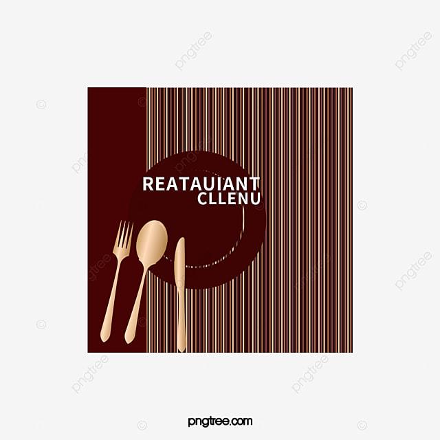 Restaurant menu design logo decoration vector