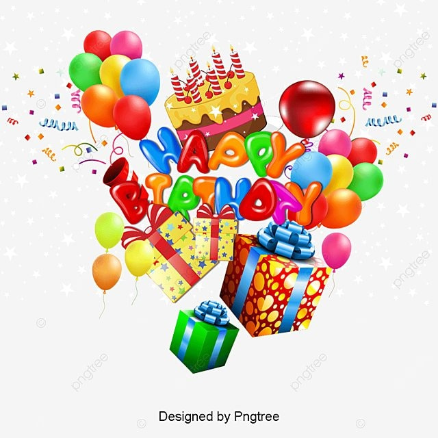 Happy Birthday, Three Dimensional Characters, Happy Birthday Background,  Cartoon Posters PNG And Vector