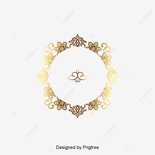 golden hand drawn wedding logo wedding logo letters logo european border png