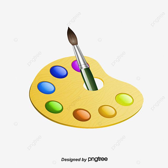 Vector paleta y pincel cepillo paleta pintura png y - Paleta de pinturas ...