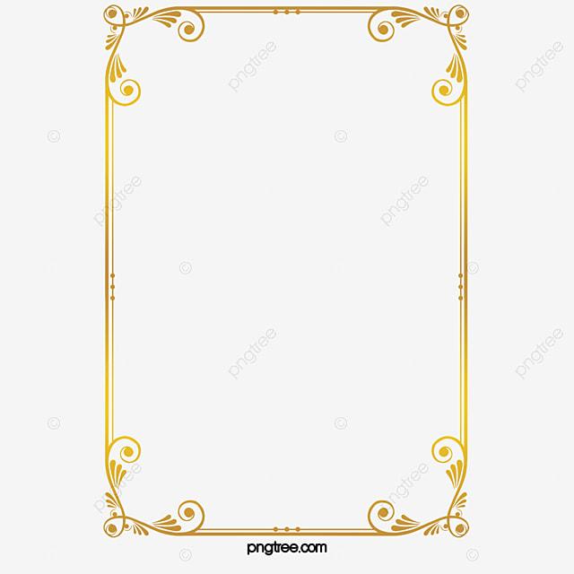 กรอบทอง สีทอง เส้นขอบ รูปแบบ ภาพ PNG สำหรับการดาวน์โหลดฟรี