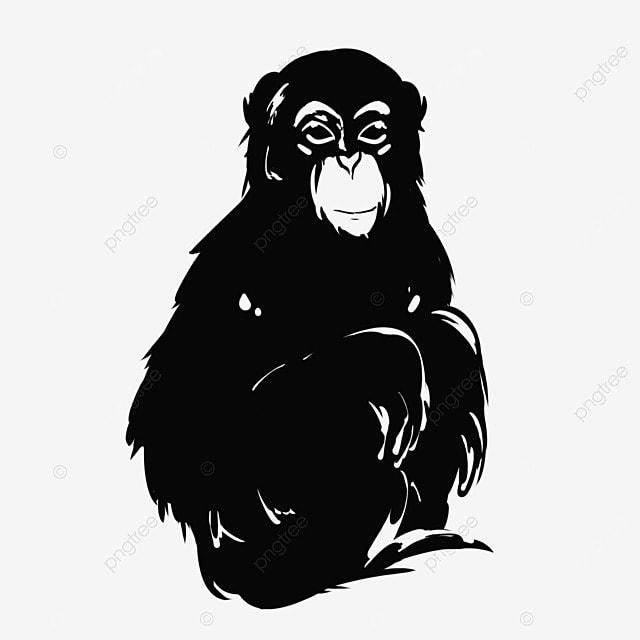Gorila Sketch Vector Vector De Animales Gorila Enojado Feroz Rugido ...