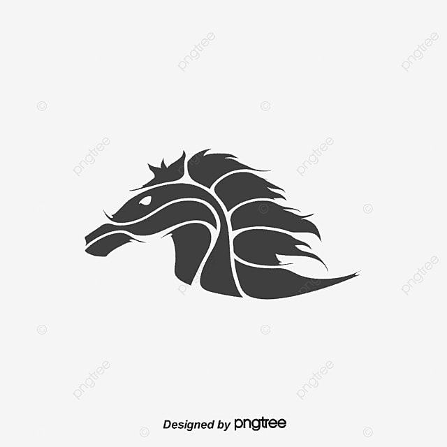 Horse Shaped Logo Design Trend Vector Material Logo Clipart