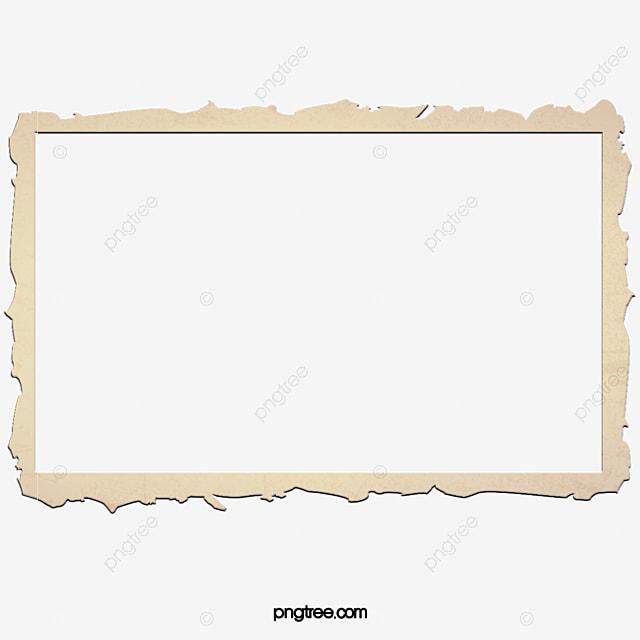 Fold The Old Paper Frame, Frame Clipart, Brown Frame, Paper Cut ...