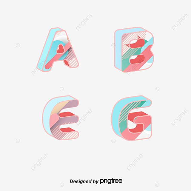 color design vector material english letters letter english alphabet wordart png and vector